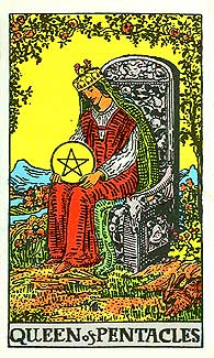 Rider Waite Queen of Pentacles