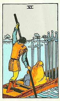 Rider Waite Six of Swords
